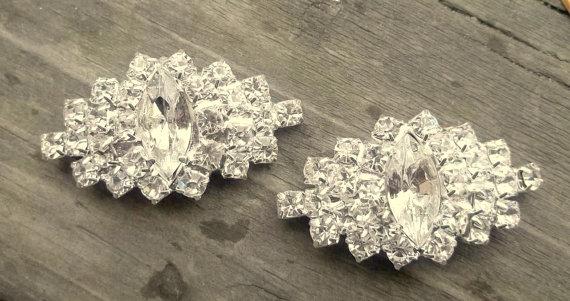 Wedding - Wedding Rhinestone Shoe Clips - Bridal Shoe Clips, Rhinestone Shoe Clips, Crystal Clips for shoes, pumps Best Seller