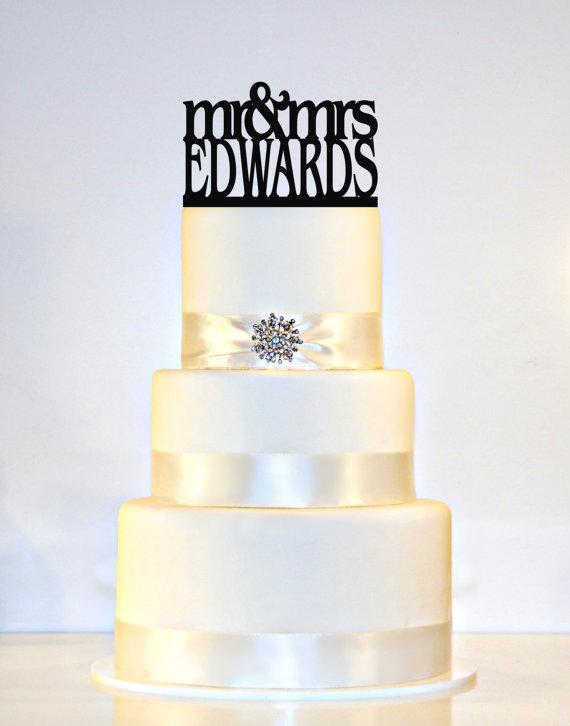 """زفاف - Wedding Cake Topper Monogram personalized with """"Mr & Mrs"""" and YOUR Last Name"""