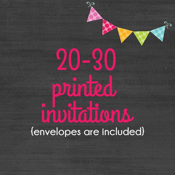 20 30 professionally printed 4x6 or 5x7 invitations envelopes