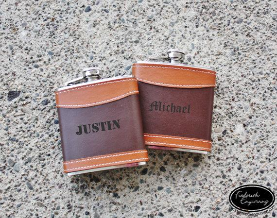 engraved flask personalized flask custom flask leather flasks