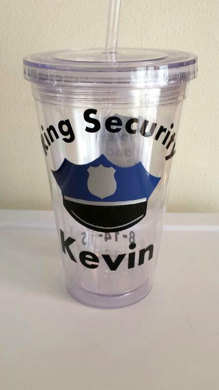 Policeman Wedding Ring Bearer Tumbler Gift Police Kids Man Cup Boys