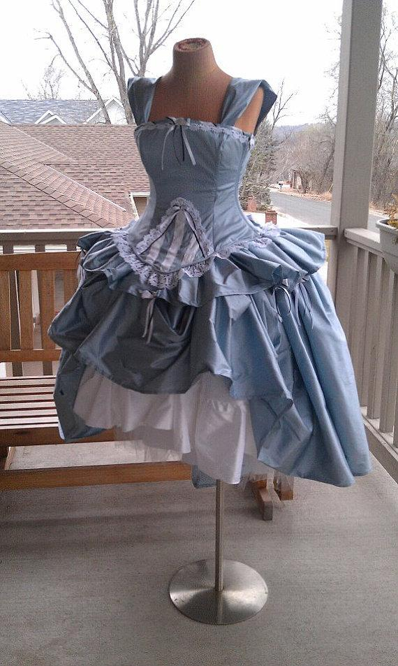 Alice In Wonderland Wedding Gown - Corset Fairytale Dress- Through ...
