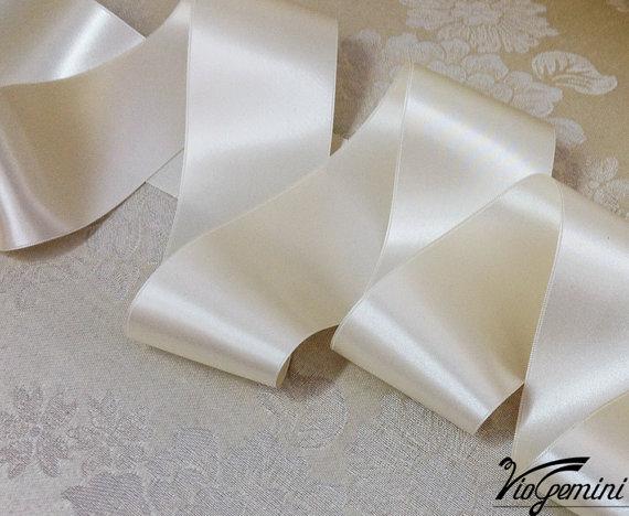 Wedding - Ivory Luxury ribbon bridal sash, wedding sash, wedding dress belt, wedding dress belt, luxury satin ribbon