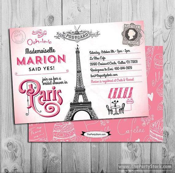 Hochzeit - Paris Bridal Shower Invitation
