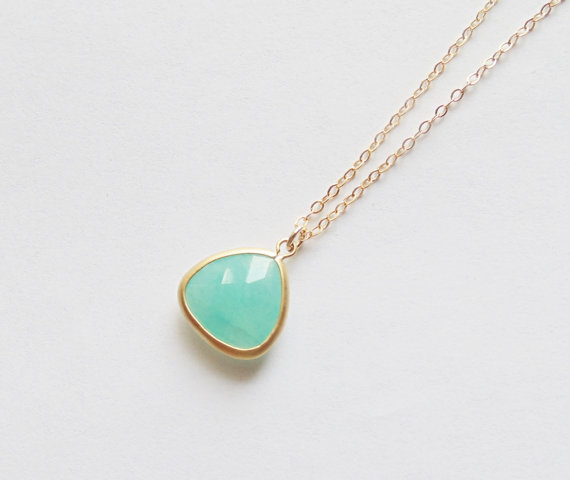 Aqua mint blue green glass triangle matte gold pendant necklace aqua mint blue green glass triangle matte gold pendant necklace gold fill chain bridal necklace bridesmaids necklace wedding jewelry mozeypictures Image collections