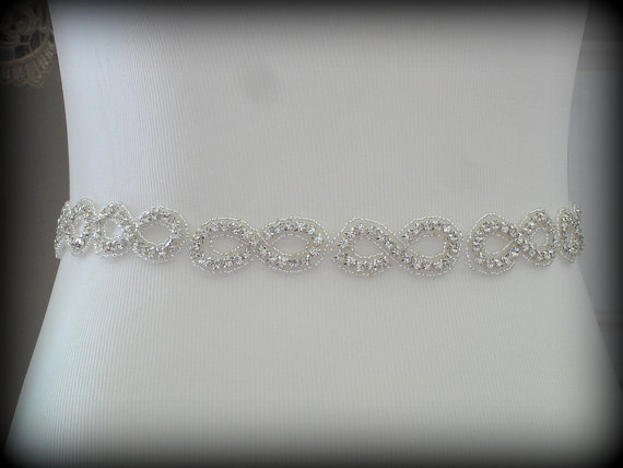 Mariage - Bridal Sash Belt , Crystal wedding sash , Crystal sash , Beaded Sash, Rhinestone Bridal Sash