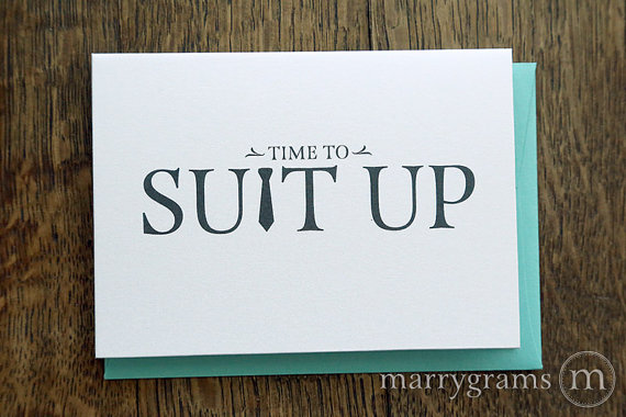 Свадьба - Time to Suit Up - Will You Be My Groomsman Card, Best Man, Usher, Ring Bearer- Wedding Cards for Guys to Ask Groomsmen, Guys -Single Listing