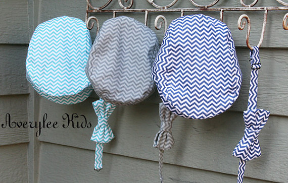 Mariage - Newsboy Hat in Chevron Print, Baby to Teen Flat Top Hat, Wedding Ring Bearer Outfit,