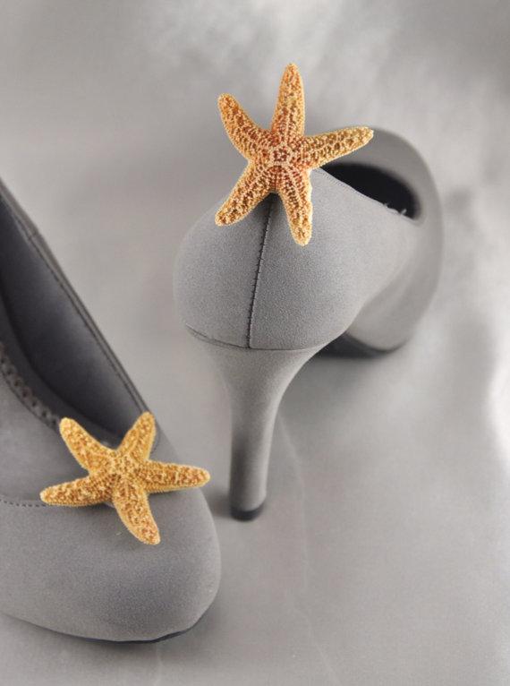 زفاف - Starfish Shoe Clips Perfect for your Beach or Destination Wedding