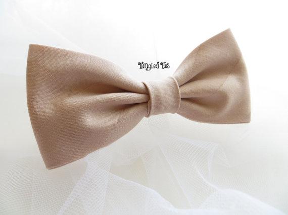 Свадьба - Bow Tie - Blush Bow Tie, Flesh Bow Tie, Nude Bow Tie, Buff Bow Tie, Tangled Ties Bow Tie, Men's Bow Tie, Wedding Bow Tie, Groomsmen Bow Tie