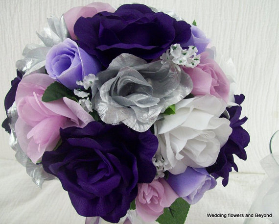 spring silk wedding flower package 5 pieces made to order brides on