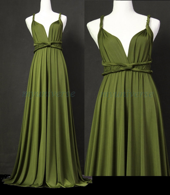 Sage Bridesmaid Dress Olive Green Infinity Dress Wrap Convertible