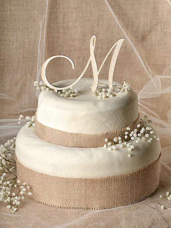 Wedding - Rustic Cake Topper, Wood Cake Topper, Monogram Cake Topper, Wedding date  Cake Topper, Wedding Cake Topper,