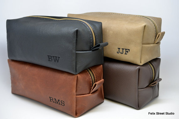 Wedding - Personalized Groomsman Gifts Leather Handmade Dopp Kit Toiletry Bags Shaving Kits for Groomsmen Gift Discounted Listing for Multiple Bags