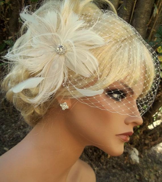 Wedding Bridal Veil Bandeau Style b50eda0f8ce