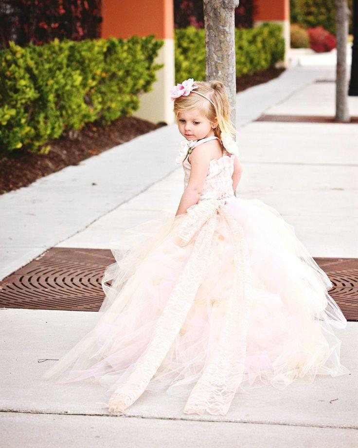 Pink wedding flower girl dress 2231829 weddbook for Flower girls wedding dress