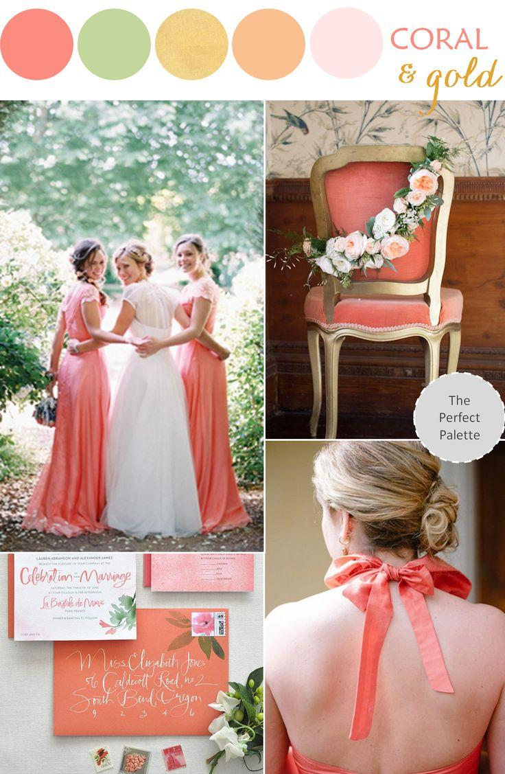 Свадьба - Pretty Peachy Blush Tones   Gold Wedding Inspiration