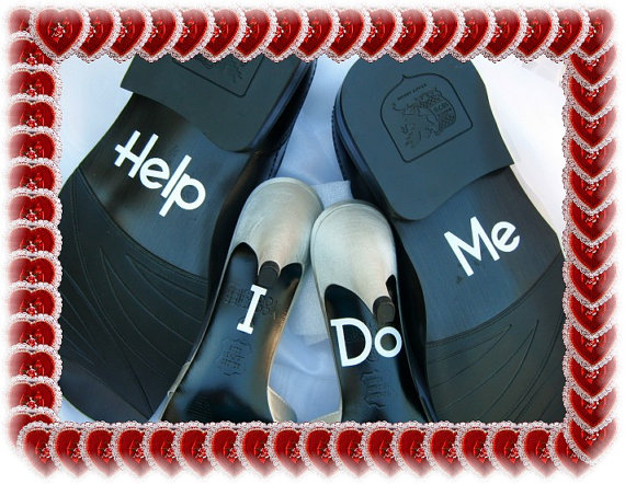 wedding shoe decals grooms only set of help me 2232109 weddbook