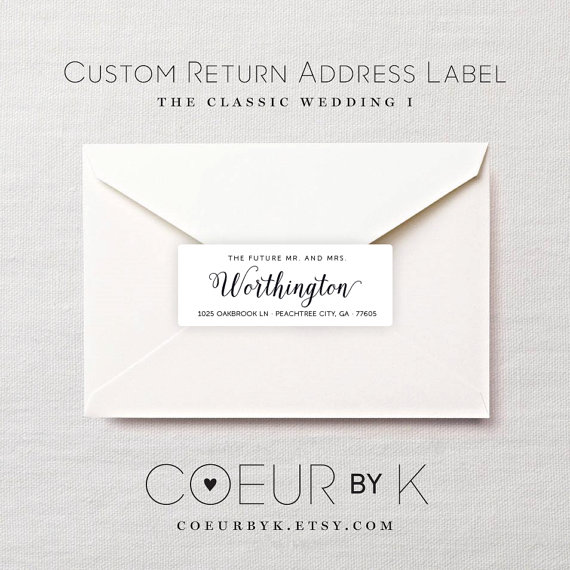 wedding return address labels peacock wedding return With custom made return address labels