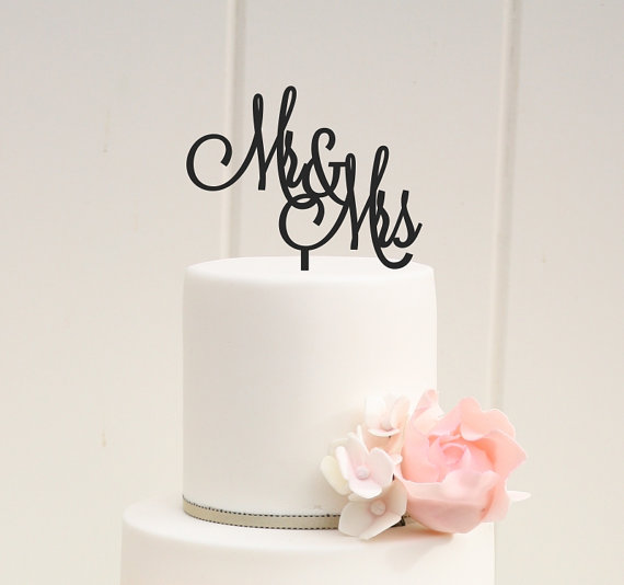 Mr And Mrs Wedding Cake Topper - Custom Cake Topper #2232151 - Weddbook