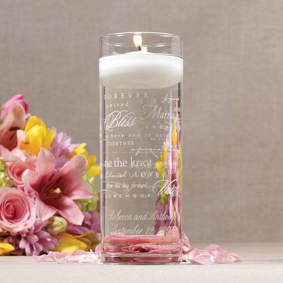 Hochzeit - Wedding Words Unity Cylinder (e148-2805) - Free Personalization