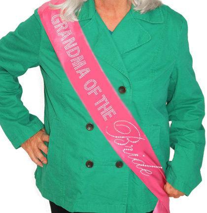 Hochzeit - Grandma of the Bride Rhinestone Sash: Bridal Shower Sash, Grandma Sash, Wedding Sash