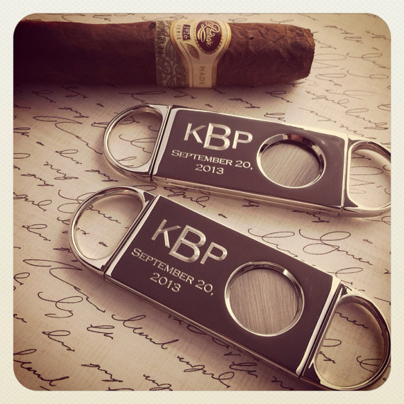 Best Man Groomsmen Gift Personalized Engraved Cigar Cutter Bachelor Party Gifts Retirement