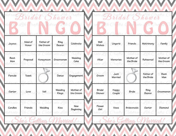 graphic relating to Musical Bingo Cards Printable identify 30 Bridal Shower Bingo Playing cards - Do-it-yourself Printable Celebration Activity