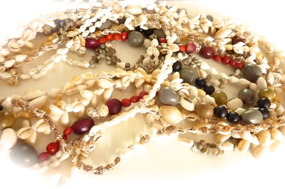 Mariage - Vintage Shell Necklace collection - Vintage necklace - Beach Wedding  Jewellery