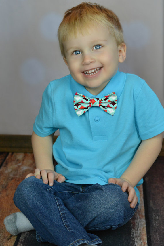 Hochzeit - Turquoise Bow Tie Burgundy Red Easter Clip On Cake Smash Birthday Party Favor - Gift or Photo Prop - Newborn Baby Boy Clothing Accessory