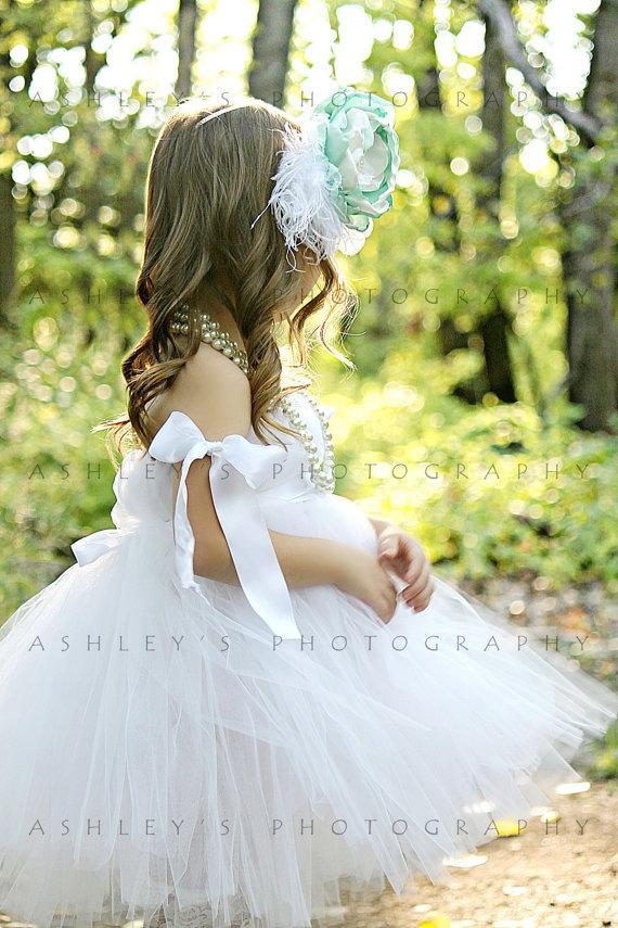 Wedding - White Flowergirl Dress flowergirl tutu flower girl dress flowergirl tutu dress