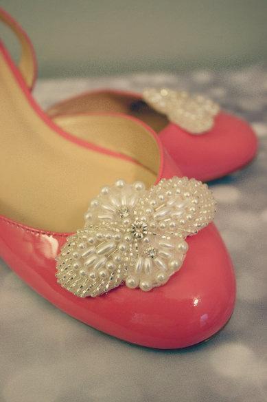 Bridal Shoe Clips, Rhinestone Shoe Clips, VICTORIA, Bridal Accessories