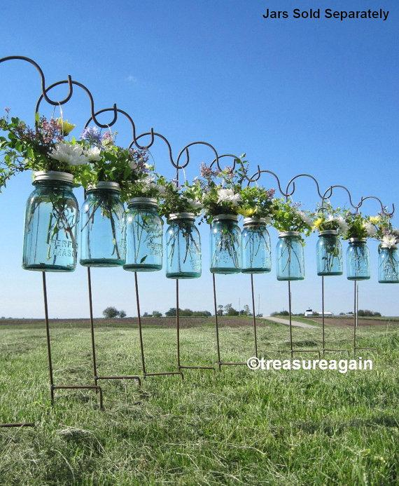 Diy Hanging Vases Ball Mason Jar Hanging Flower Frog Lids For