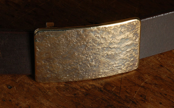"""Mariage - Gold Belt Buckle Fits 1-1/4"""" Belt For Suits Hypoallergenic Stainless Steel Accessories Designed & Signed by Canadian Artist,  Robert Aucoin"""