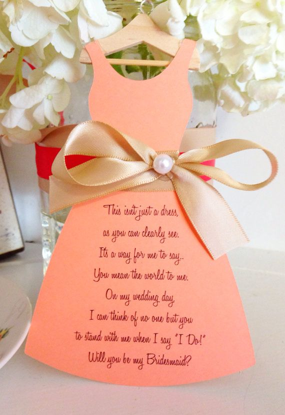 how to make a card for my bridesmaid