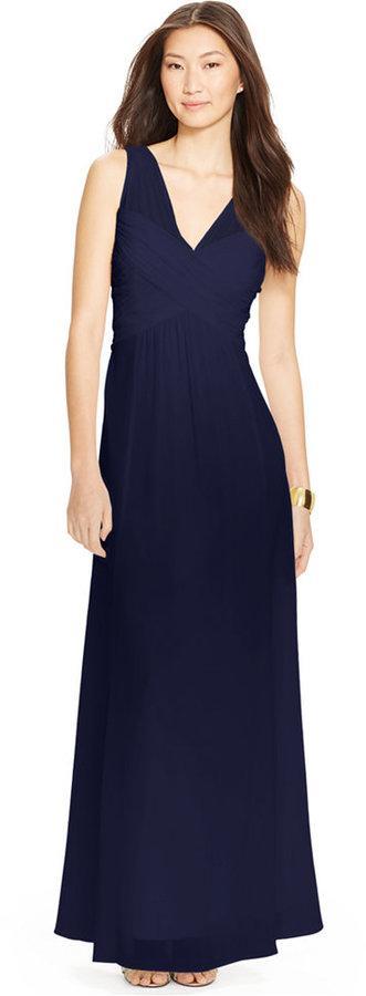 Lauren Ralph Lauren Ruched V Neck Gown 2232860 Weddbook