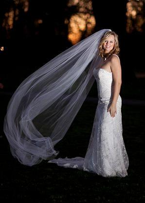 Wedding - Bridal Veil with Blusher Regal Cathedral Veil 120 inches long, Full 108 inch wide long wedding veil with blusher