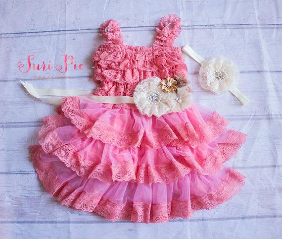 Flower girl dresses lace tutu set