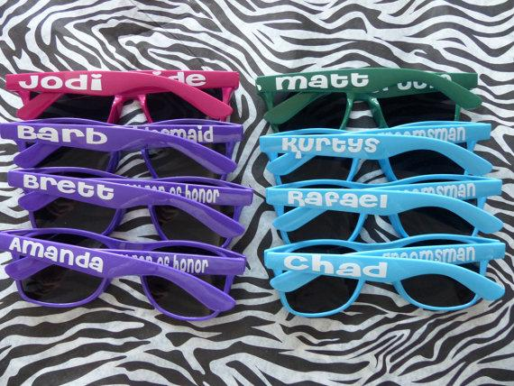 Mariage - Personalized Sunglasses - Bachelor Party, Bachelorette Party, Bride, Bridesmaid, Groom, Groomsmen, Vacations, Parties, favors