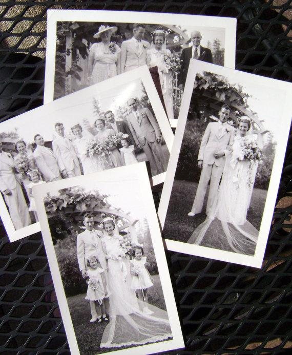 Wedding - Vintage Wedding Photographs Snapshots 1938