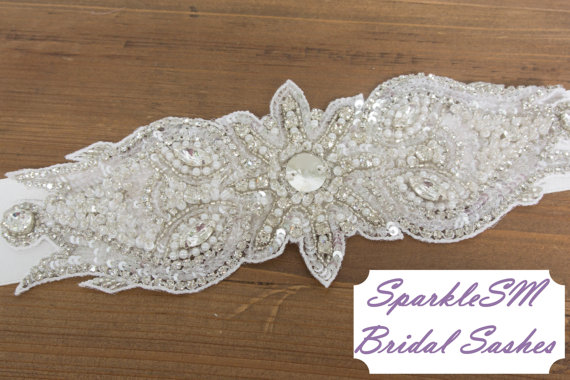Свадьба - Rhinestone Crystal Bridal Belt Sash, Wedding Sash Belt, Bridal Accessories, Crystal Belt Sash Bridal Belt Sash  - Cordelia