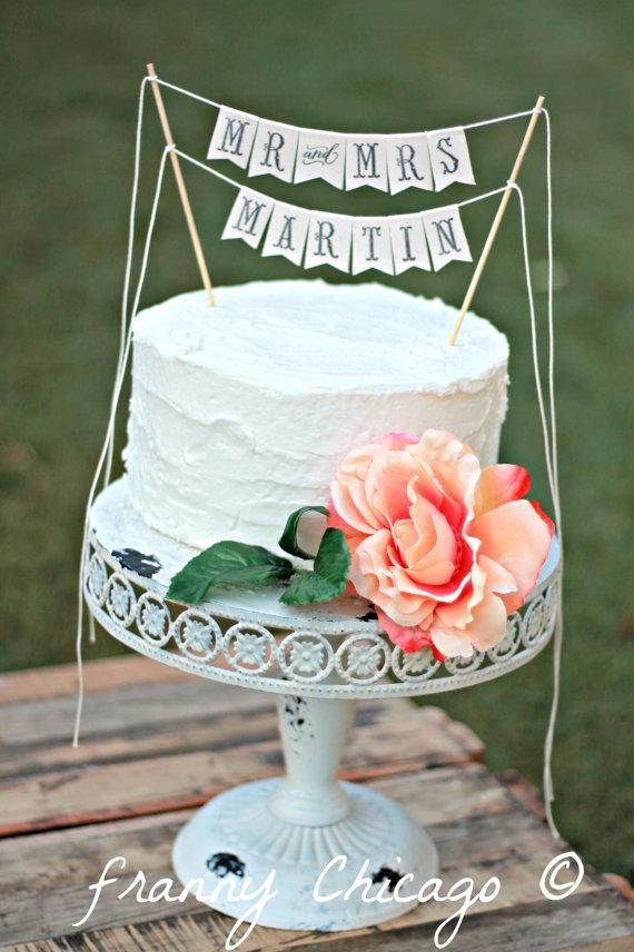 Свадьба - Wedding Cake Topper - Rustic wedding - wedding cake banner - topper wedding cake