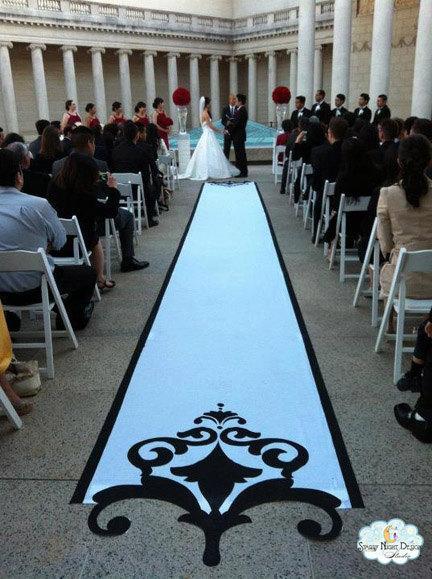 Aisle Runner, Wedding Aisle Runner, Custom Aisle Runner - Black ...