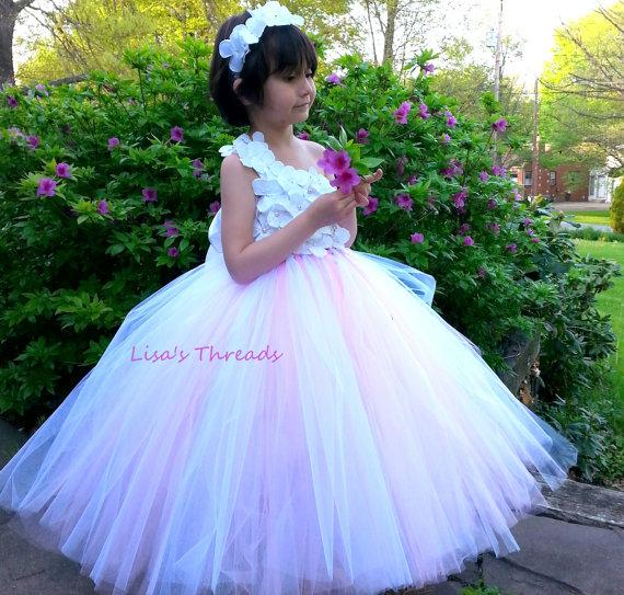 Light Pink Flower Girl Dress Junior Bridesmaids Dress Flower Girl