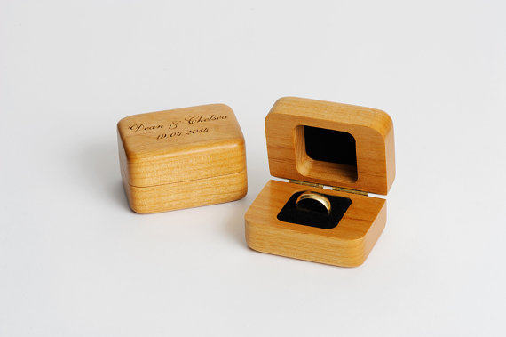 Personalized Wood Ring Box Personalized Ring Holder Wood Ring