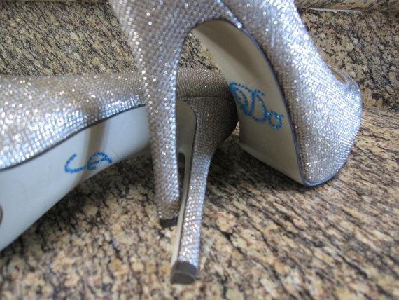 "Свадьба - Something Blue ""I Do"" Wedding Shoe Sticker."