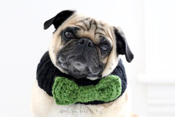 زفاف - Custom Bow Tie Dog Collar