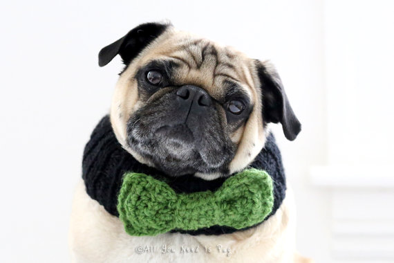 Свадьба - Custom Bow Tie Dog Collar