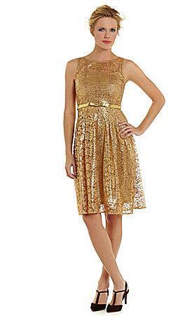 673a8de7d8c Leslie Fay Metallic Lace Fit-and-Flare Dress  2233414 - Weddbook