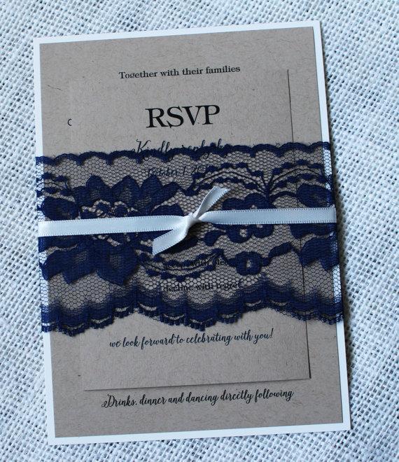 Hochzeit - Navy Wedding Invitations, Wedding Invitations, Elegant Wedding Invitations. Navy Wedding. Wedding Stationary. Custom Stationary.